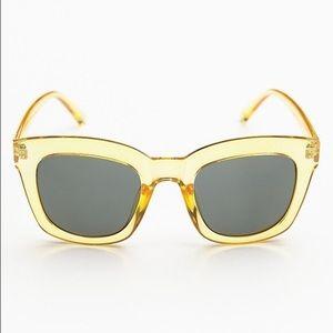 Free People Kensington Sunglass Yellow